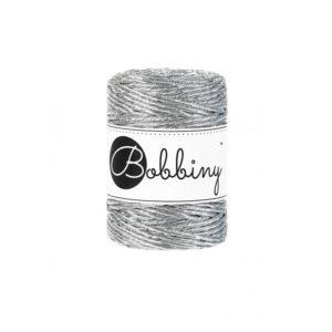 Bobbiny - Macrame Cord Single - Regular 3mm - Metallic | The Knitting Club